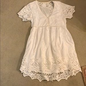 Spell Size Small White Sundress. Cuts low in bust!